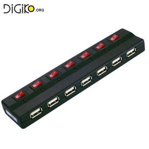 هاب ۷ پورت USB 2.0 ادابتور دار (مارک فرانت)