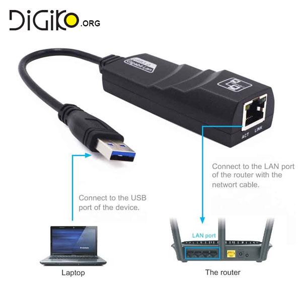 تبدیل USB 3 به LAN گیگابیت