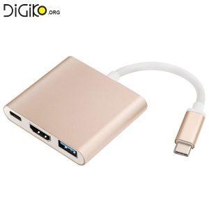 تبدیل TYPE C USB3.1 به HDMI/ TYPE C/USB3.0