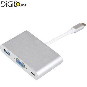 تبدیل TYPE C USB3.1 به VGA/ TYPE C/USB3.0