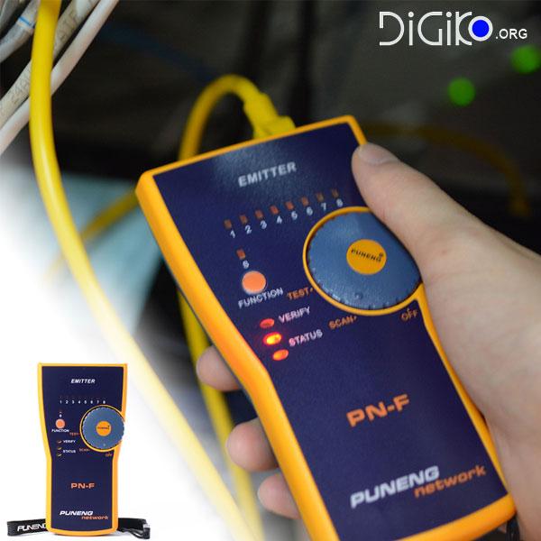 تستر حرفه ای شبکه و تشخیص مکان یاب و زوج یاب کابل های RG45 (مارک PUNENG)