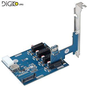کارت تبدیل 1 پورت PCI-E 1X به 4 پورت PCI-E 1X