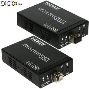 دستگاه افزایش HDMI+RS232 روی بستر فیبر نوری به همراه ریموت تا 1 کیلومتر (مارک فرانت)