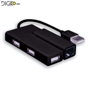 تبدیل USB به LAN + هاب USB2.0 (مارک فرانت)