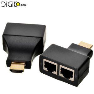 دستگاه افزایش طول کابل HDMI توسط دو کابل شبکه تا 30 متر