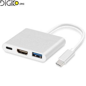 تبدیل TYPE C USB3.1 به 3 پورت برند لایمستون