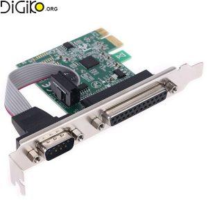 کارت تبدیل PCIE به پارالل و 1 پورت سریال